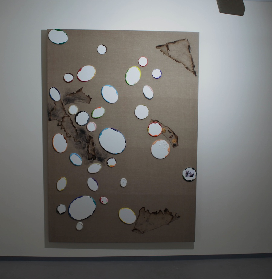 Jiri David,,Everything was on the circumference of angles and each one had a vision,250x150cm canvas on canvas,2014